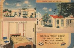 Tropical Tourist Court Postcard