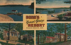 Bond's Grand Glaize Resort Postcard