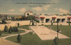 Gable Lodges Postcard