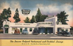 Beacon Outpost Restaurant and Cocktail Lounge Postcard