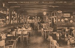 Ship's Cabin - Dan & Louis Oyster Bar Postcard