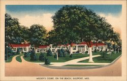 Moody's Court, On The Beach, Gulfport, Miss. Postcard