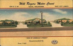 Will Rogers Motor Court Postcard