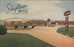 The Newer And Finer Skyliner Motel, Concordia, Kansas Postcard