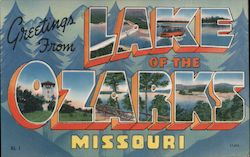 Greetings from Lake of the Ozarks Missouri Postcard