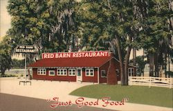 Red Barn Restaurant Postcard