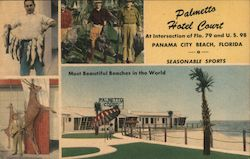 Palmetto Hotel Court Postcard