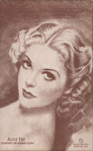 Alice Fay, Courtesy Of Screen Book Actresses