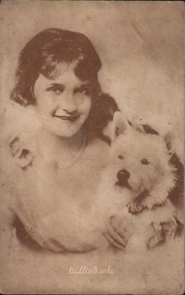Billie Burke - A Woman with a White Dog Actresses