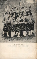 U. S. Zouaves with Buffalo Bill's WIld West. Postcard