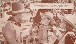 "Mickey Rooney as Andy Hardy in ""Out West WIth The Hardys"" Postcard"