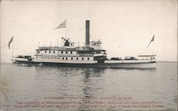 "Steamer ""Chateaugay"" Auto Ferry on Lake Champlain"