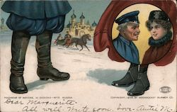 Footwear of Nations No.10 - Russia, Woonsocket Rubber Company Postcard