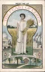 Meet Me at The Feast of Ceres 1907 Postcard