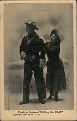 "Cowboy Series-- ""Calling The Bluff"" Postcard"