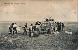 "Loading The ""Chuck"" Wagon Postcard"