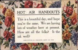 Hot Air Handouts... Is The Ink Well? Postcard