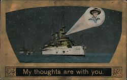 My Thoughts Are With You Postcard