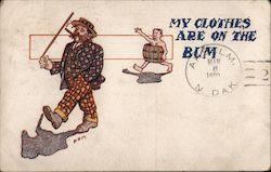 My Clothes Are on The Bum Postcard
