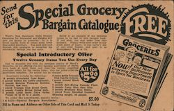 Send For This Special Grocery Bargain Catalogue Postcard