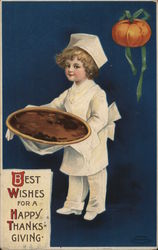 Best Wishes For a Happy Thanksgiving Postcard