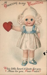 A Greeting to my Valentine Postcard