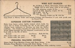 1933 Ad for G. R. Schmidt Woolen Co. products Postcard