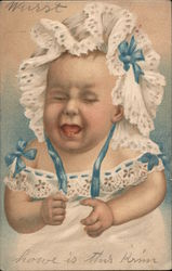 Crying Baby Postcard