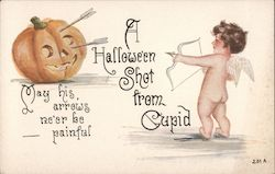 A Halloween Shot From Cupid: May His Arrows Ne're Be Painful Postcard