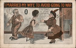 I Married My Wife To Avoid Going To War Postcard