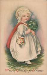 Hearty Greetings For Christmas Postcard