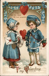 Pray, Take This Token of Love Unspoken To My Valentine Postcard