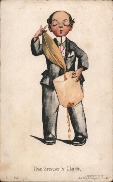The Grocer's Clerk Katharine Gassaway Men