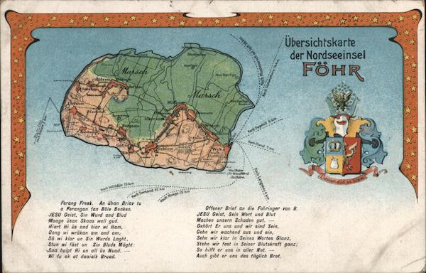 Overview Map of the North Sea Island of Föhr Maps