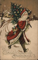 A Christmas Greeting Postcard
