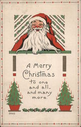A Merry Christmas To One and All--And Many More Postcard