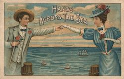 Hands across the sea Postcard