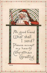 Ah, Good Friend, What Shall I Send? Postcard