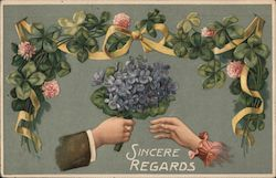 Sincere Regards Postcard