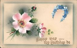 Happy May Thy Birthday Be Postcard