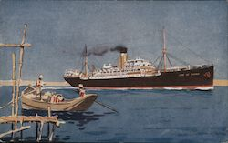 "Steamer ""City of Poona"" Postcard"