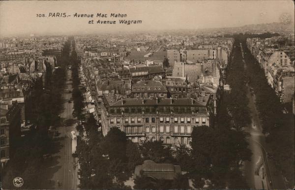 Avenue MacMahon at Avenue Wagram Paris France