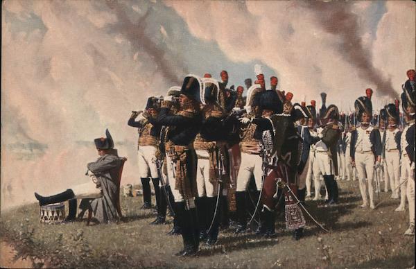 Napoleon sur les hauteurs devant Borodino France