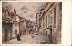 Painting of a street Postcard