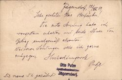 Stationery postcard, sent by a German speaking pharmacist Postcard