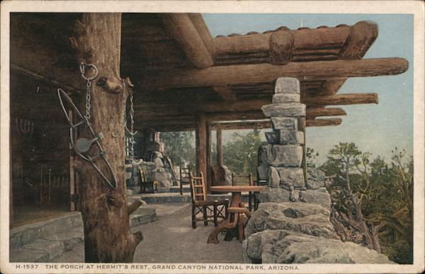 The Porch at Hermit's Rest Grand Canyon National Park Arizona