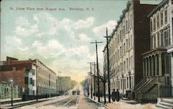 St. Johns Place from Rogers Ave. Postcard