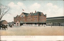 Boston and Maine Railroad Station Postcard