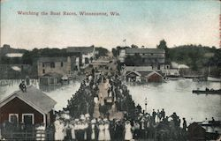 Watching The Boat Races Postcard