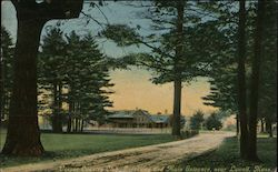 Vesper Country Club Driveway and Main Entrance Postcard